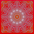 Red Space Flower Poster by Hanza Turgul