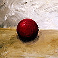 Red Sphere Print by Michelle Calkins
