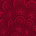 Red Swirls Print by Frank Tschakert