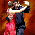 Red Tango Poster by James Shepherd