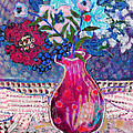 Red Vase III Print by Diane Fine