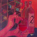Red Wine Room Poster by Debi Starr