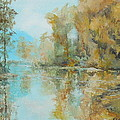 Reflecting on Reflections Print by Elizabeth Crabtree
