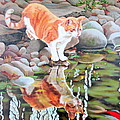 Reflecting Print by Sandra Chase