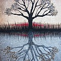 Reflecting Tree Poster by Janet King
