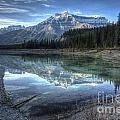 Reflection of Mount Amery at Graveyard Flats Poster by Brian Stamm