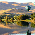Reflection of Prosser Hills Poster by Carol Groenen