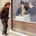 Reflections of a Hungry Man or Social Contrasts Print by Emilio Longoni