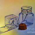 Reflective Still Life Jars Print by Brenda Brown