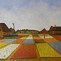 Reproduction of Flower Beds in Holland Poster by Marcello Martinho