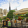Restaurant on Seine Print by Elena Elisseeva