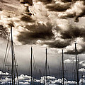 resting sailboats Print by Stylianos Kleanthous