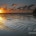 Ripples on the Beach Poster by Mike  Dawson