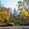 Rittenhouse Square in the Spring Print by Bill Cannon