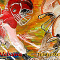 Rivals Face To Face 1 Print by Mark Moore