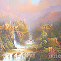 Rivendell A Hobbits Tale. The Red Book Print by Joe  Gilronan
