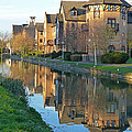 Riverside Home Reflections Vertical Poster by Gill Billington