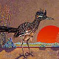 Road Runner at Sundown Print by Bob Coonts