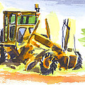 Roadmaster Tractor in Watercolor Poster by Kip DeVore