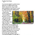 Robert Frost - The Road not Taken Poster by Ed Churchill