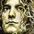 Robert Plant. Golden God Poster by Tanya Filichkin