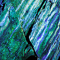 Rock Art 16 in Teal n Violet Print by Bill Caldwell -        ABeautifulSky Photography