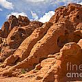 Rock formations in the Valley of Fire Poster by Jane Rix