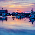 Rockport harbor sunrise over Motif #1 Poster by Jeff Folger