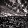 Rocks Clouds Water Print by Bob Orsillo