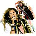 Rocks Gothic Lion  STEVEN TYLER Print by Iconic Images Art Gallery David Pucciarelli