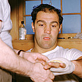 Rocky Marciano Getting Taped Up Print by Retro Images Archive