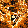 Roger Federer Clay Poster by RochVanh
