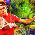 Roger Federer Print by RochVanh