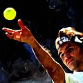 Roger Federer tennis 1 Poster by Lanjee Chee