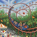 Roller Coaster Print by Linda Mears