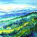Rolling Tuscan Landscape Print by Trudi Doyle