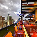 Rooftop bar Above Eleven in Bangkok Poster by Fototrav Print