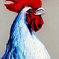 ROOSTER HEAD Print by MONA EDULESCO
