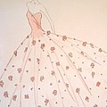 Rose Ball Gown Poster by Christine Corretti
