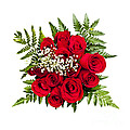Rose bouquet from above Print by Elena Elisseeva