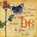 Roses and Butterflies 1 Poster by Debbie DeWitt