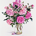Roses in a Glass Jar  Print by Christopher Ryland