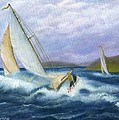 Rough Water Sailing Print by Catherine Howard