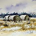 Round Bales Print by Sam Sidders