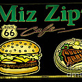 Route 66 Miz Zips Poster by Bob Christopher