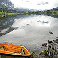 Row your boat to the Briksdalsbreen Glacier Print by Heiko Koehrer-Wagner