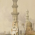Ruined Mosques in the Desert Print by David Roberts