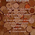 Rules of Acquisition - Part 1 Poster by Anastasiya Malakhova