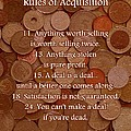 Rules of Acquisition - Part 2 Poster by Anastasiya Malakhova