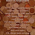 Rules of Acquisition - Part 4 Poster by Anastasiya Malakhova